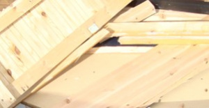 Omålat trä