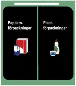 Tvådelat kärl pappers- samt plastförpackningar.